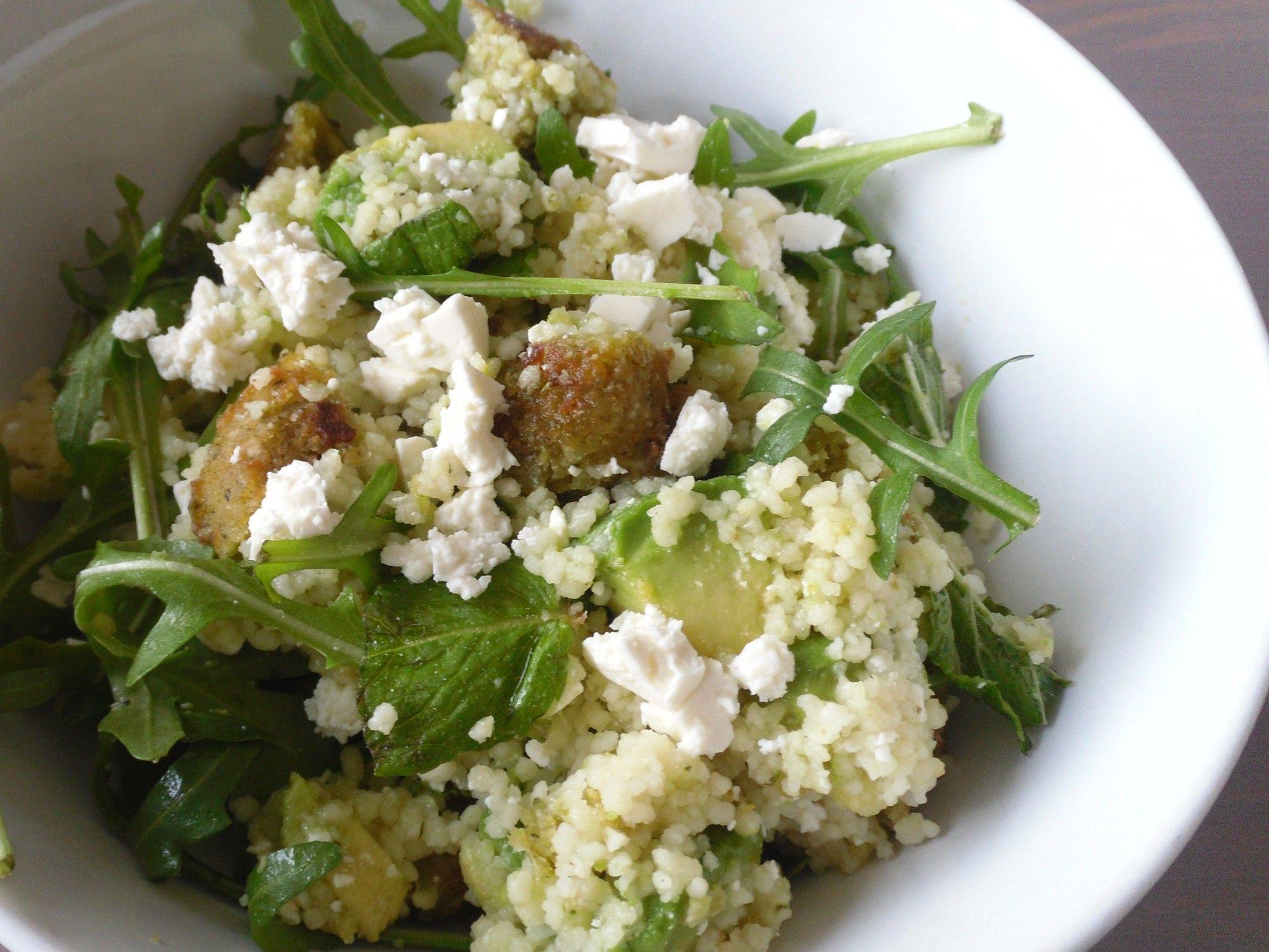 Couscous salade met falafel
