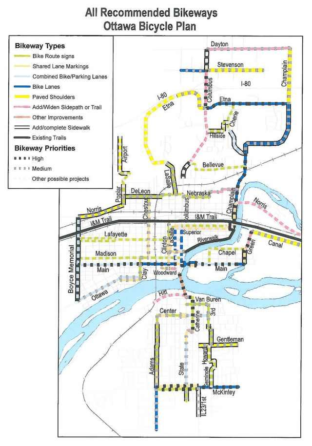 Ottawa Il City Council Adopted A Map Of Existing Trails And