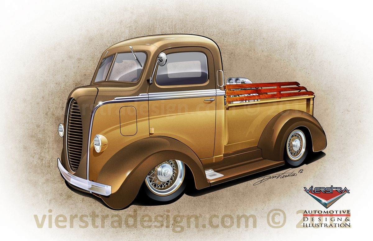 1939 Ford Coe With 1941 Studebaker Truck Bumpers Wire Wheels Painted Faux Chrome Trim 1940 Pick Rear Fenders Koa Wood Bed Rails