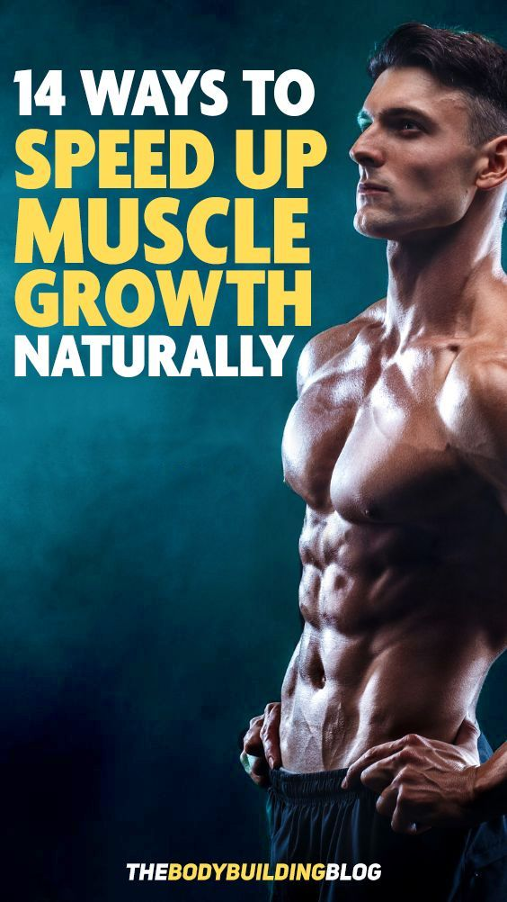 Find out how you can use these 14 ways to help speed up your muscle growth naturally! #fitness #gym...