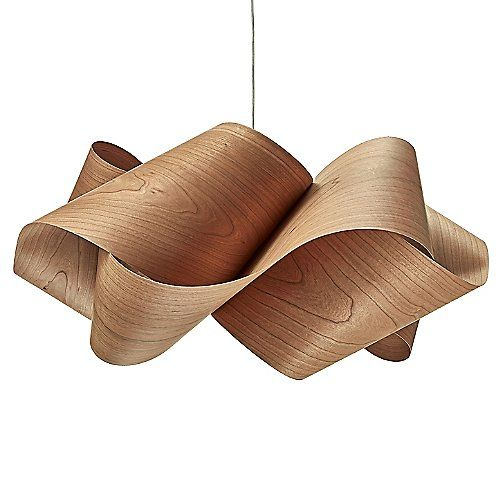 The Lzf Swirl Pendant Has A Nice Flow To It Featuring Wavy Bands Of Wood Veneer That Fold In To Decorative Pendant Lighting Pendant Light Modern Pendant Light