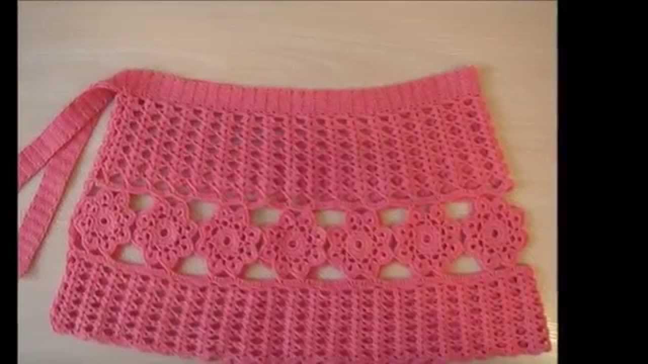 falda tejida a crochet para este verano | saida de praia | Pinterest ...