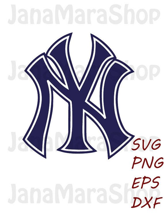 New York Yankees Logo Svg Digital Download Svg Dxf Eps Png For Use With Cameo Silhouette And Cricut Die New York Yankees Logo Yankees Logo New York Yankees