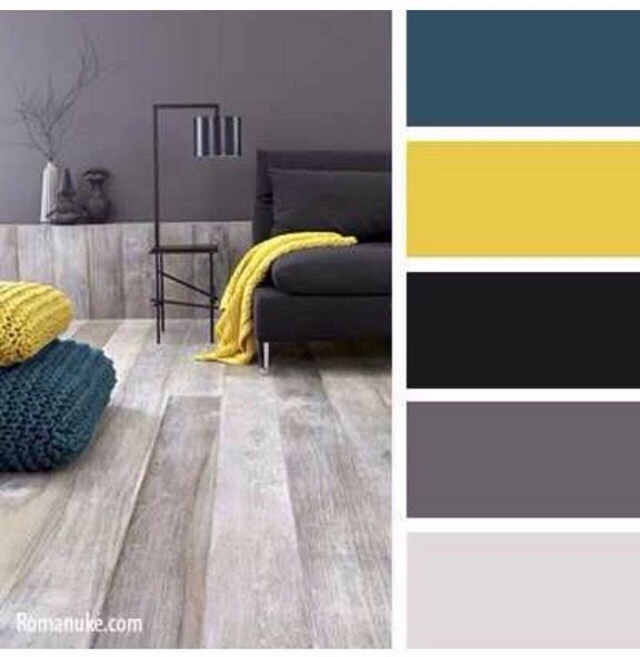 90+ Fantastic & Unique Mustard And Blue Living Room #graybedroomwithpopofcolor