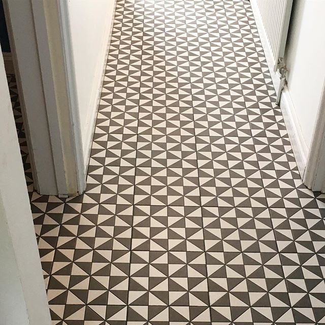 Windmill Geometric Wall Floor Tile 25x25cm Tile Floor Tiles Tiled Hallway