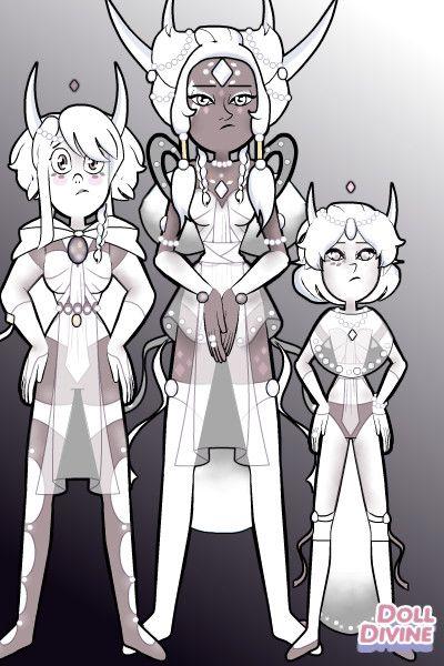 White Diamond,White Pearl and Howlite by Forgotten ~ Steven Universe