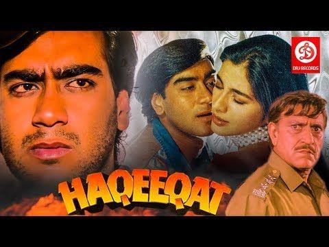 Haqeeqat Bollywood Action Movies Ajay Devgan Tabu Johnny Lever Amrish Puri Superhit Movies Youtube Bollywood Action Movies Action Movies Movies