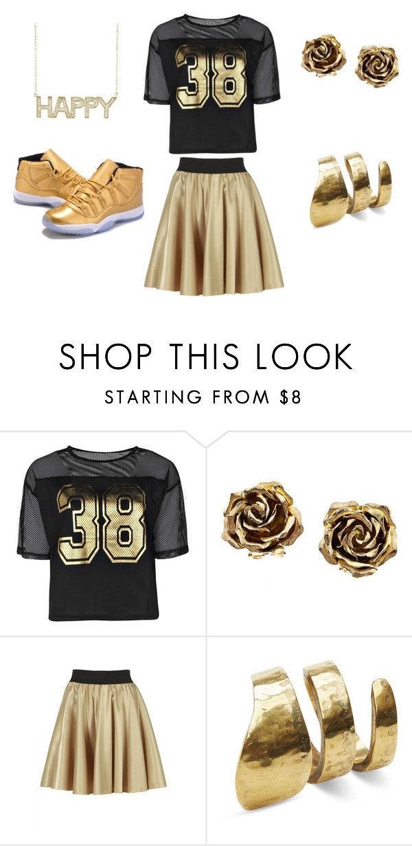 """""""gold all day"""" by nosaj14 ❤ liked on Polyvore featuring Boohoo, Tiffany & Co., TOMS and Jennifer Meyer Jewelry"""