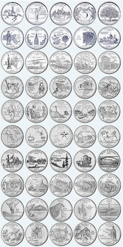 Details about PICK ANY OF THE 50 US STATE QUARTERS P or D mint - UNCIRCULATED - SEE MULTI BUY ...