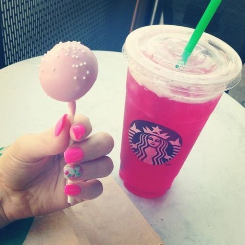 My Favorite Order From Starbucks Tazo Passion Tea Lemonade And A Birthday Cake Pop
