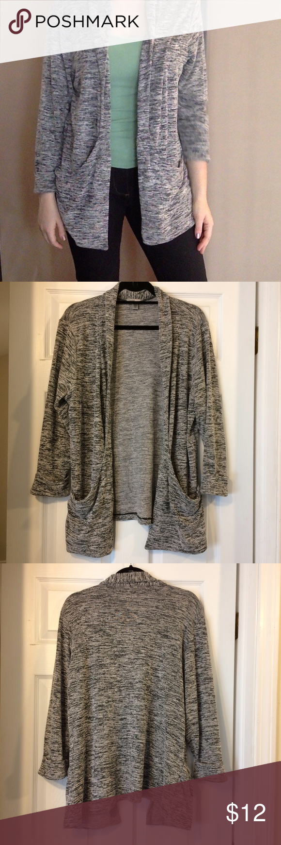 Final price drop - Cute gray cardigan sweater | Grey cardigan ...