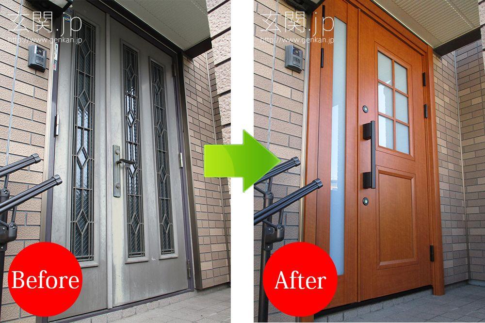 セキスイハイム神奈川県t様邸の玄関ドア交換リフォーム事例 玄関ドア