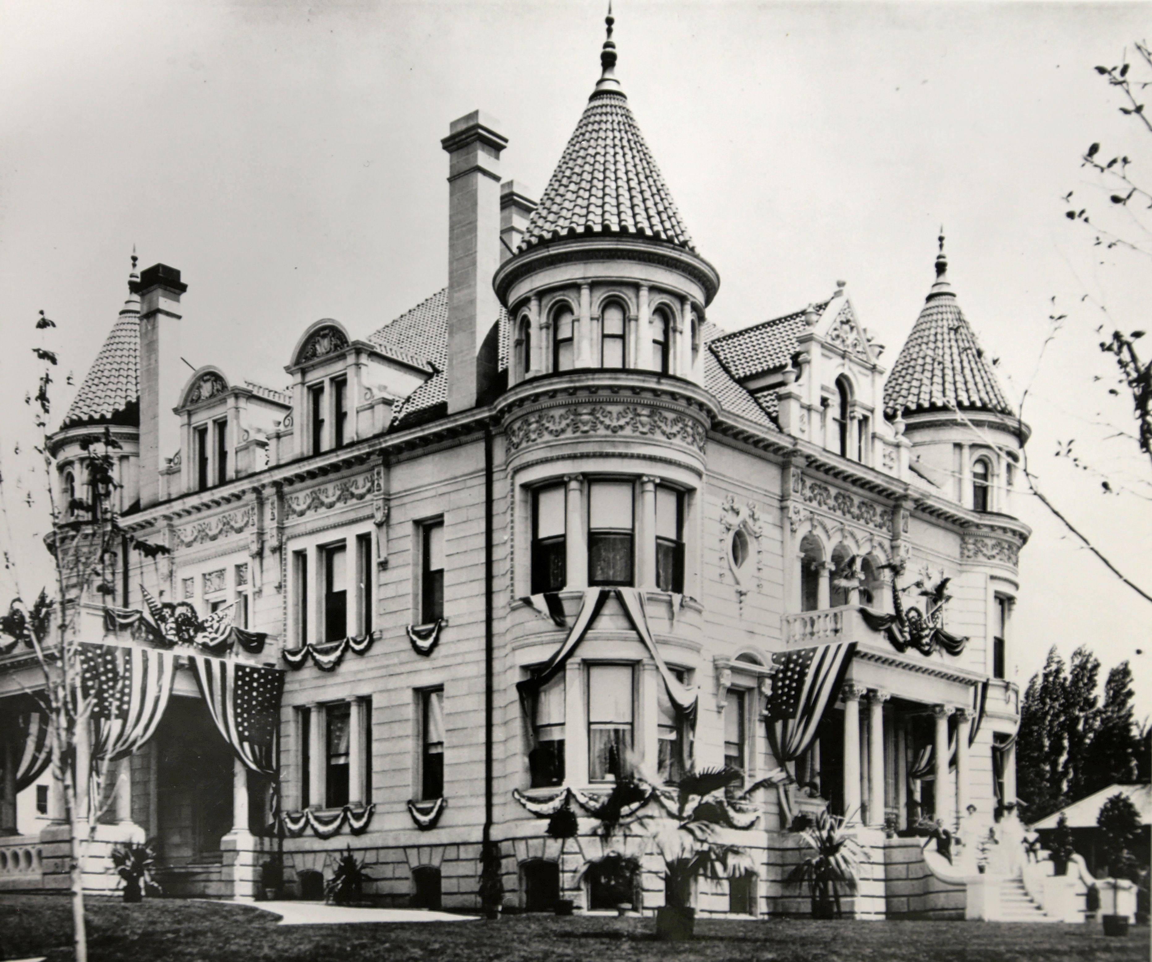 The Kearns Mansion Decorated For Roosevelt's Visit, Salt