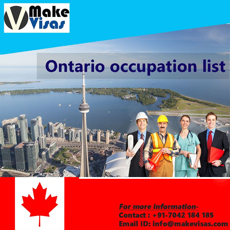 Work in Ontario skilled occupations which are facing skill