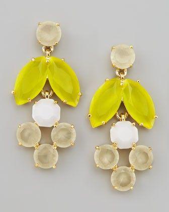 Kate Spade New York Mini Chandelier Earrings Yellow Neiman Marcus