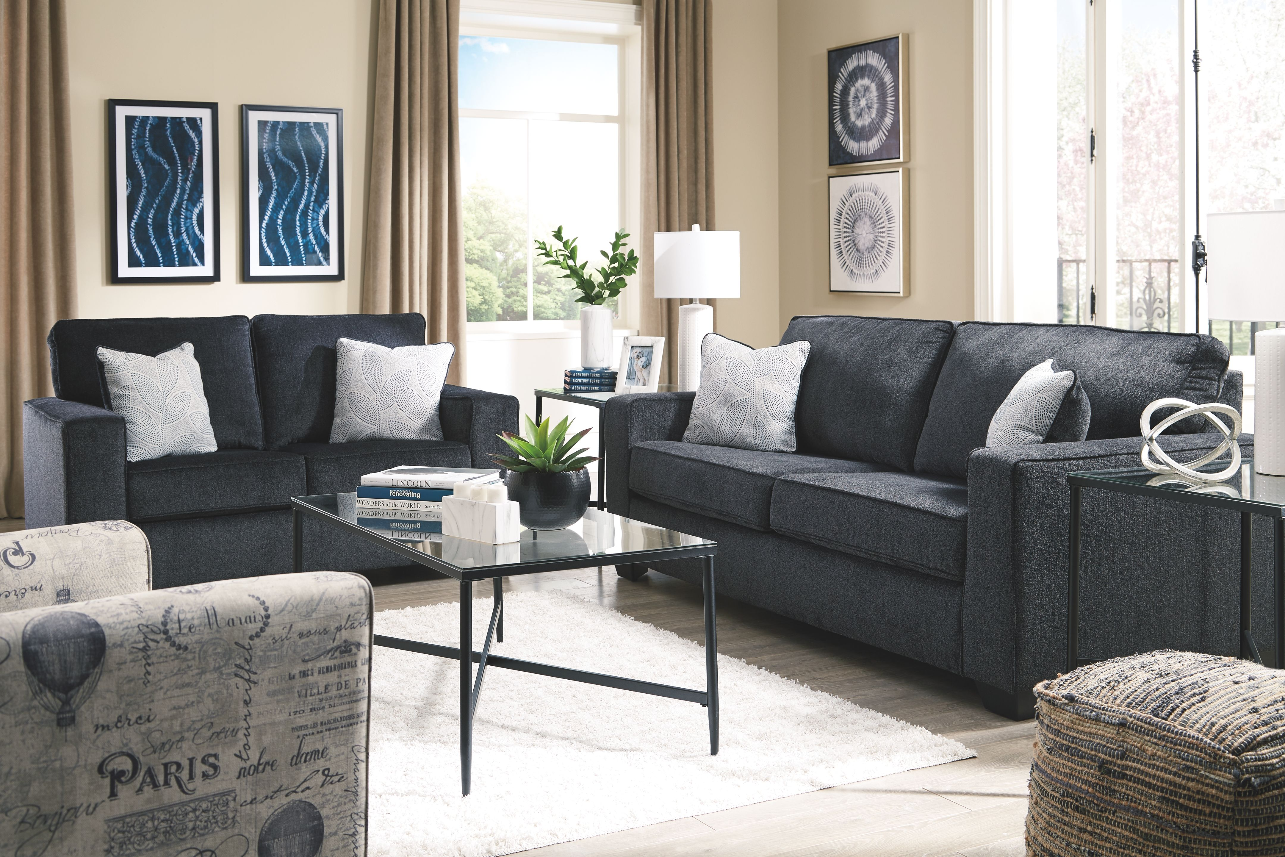 Best Altari Loveseat Slate Furniture Slate Sofa Ashley 400 x 300