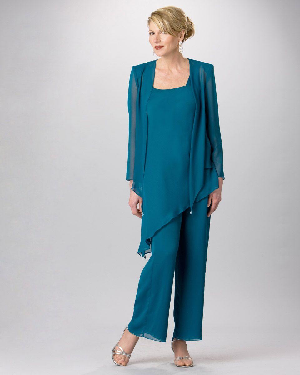 Ursula Formal Chiffon Pant Suit 11882 | Pinterest | Chiffon pants ...