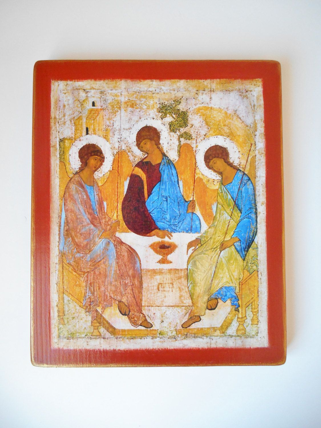 Holy trinity icon 9 x 11 rublev reproduction on wood large icon holy trinity icon 9 x 11 rublev reproduction on wood large icon religious icon sale orthodox negle Image collections