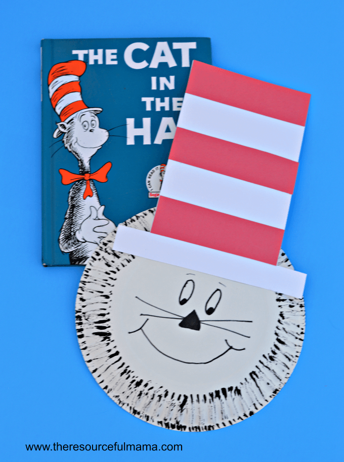 Paper Plate Dr Seuss Cat in the Hat Craft | The ...
