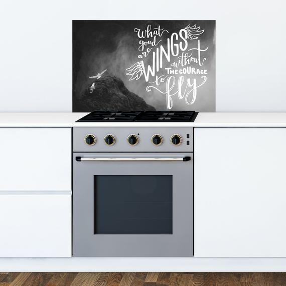 Inspirational Quote Kitchen & Bathroom Splashback Sticker - Easy Wipe, Removable Kitchen Backsplash #bathroomsplashback Inspirational Quote Kitchen & Bathroom Splashback Sticker - Easy Wipe, Removable Kitchen Backsplash #bathroomsplashback