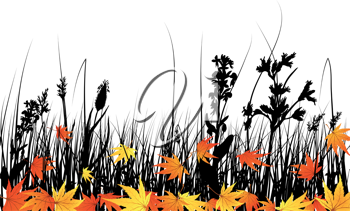 iCLIPART - Vector grass silhouettes background.