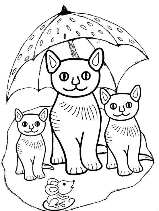 coloriage 554×738  ausmalbilder katzen