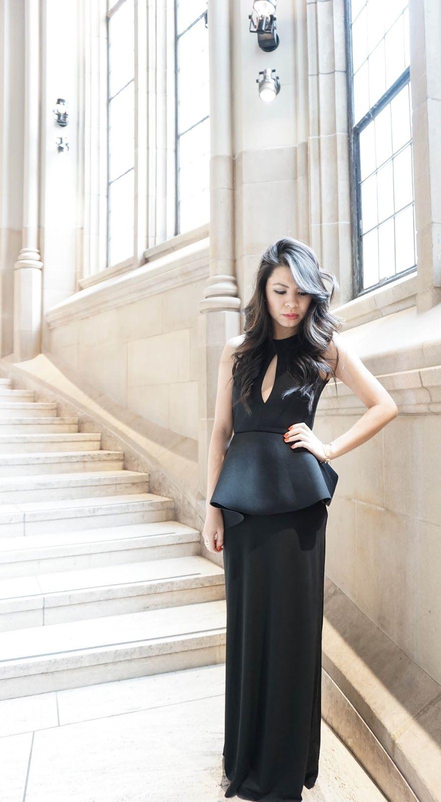 Asos peplum maxi dress / evening gown: look glamorous on a budget ...