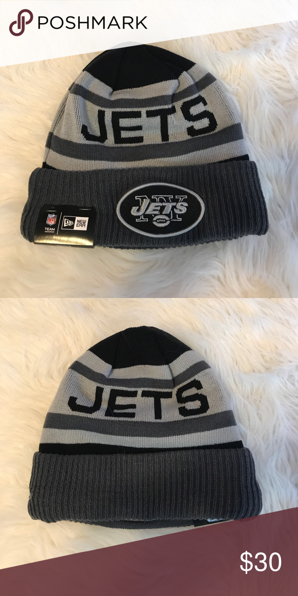 17f36fb2a46 New York jets beanie Brand new with tags New Era Accessories Hats ...