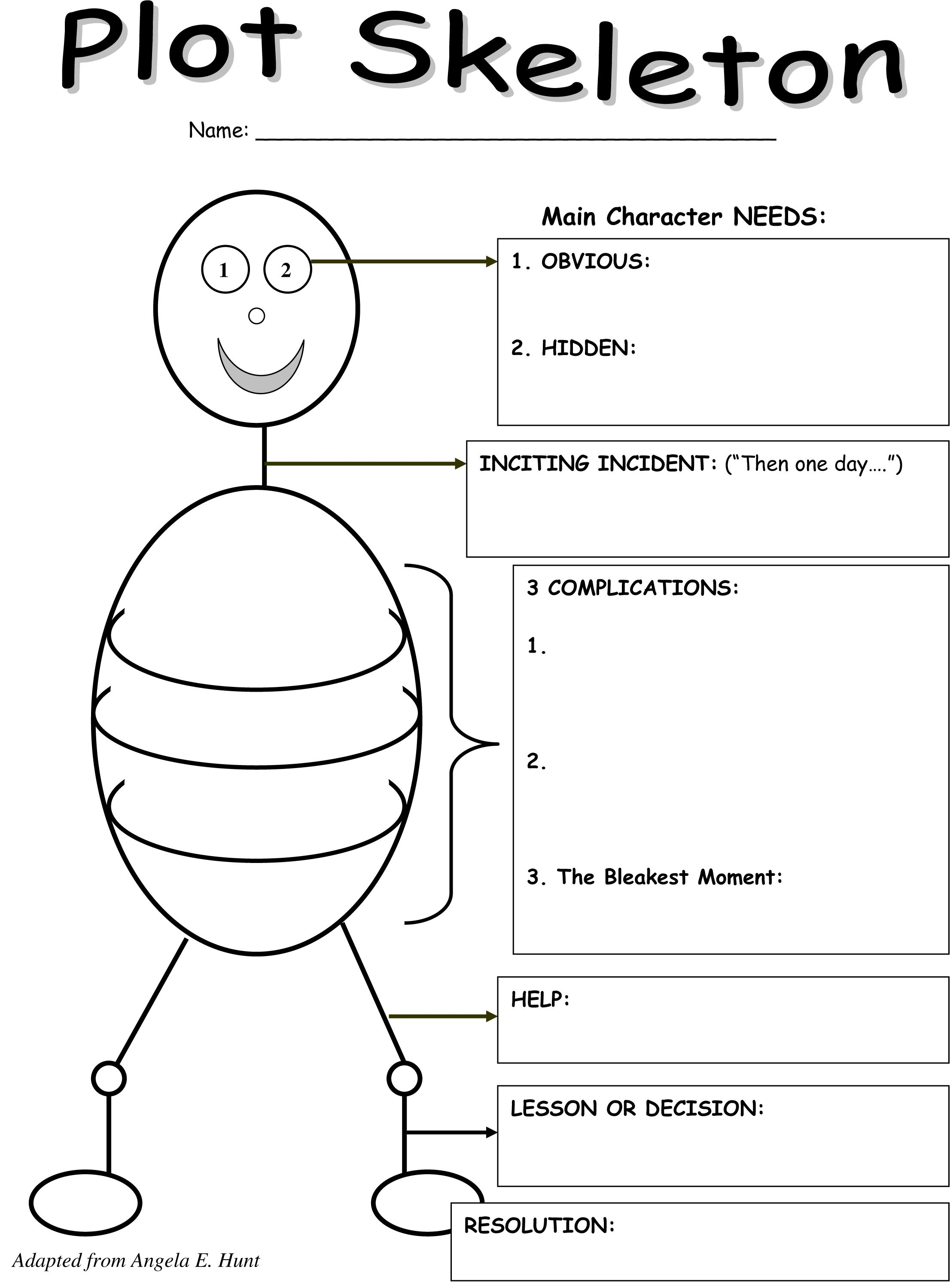 The plot thickens a graphic organizer for teaching writing microsoft word plot skeletonc ccuart Images