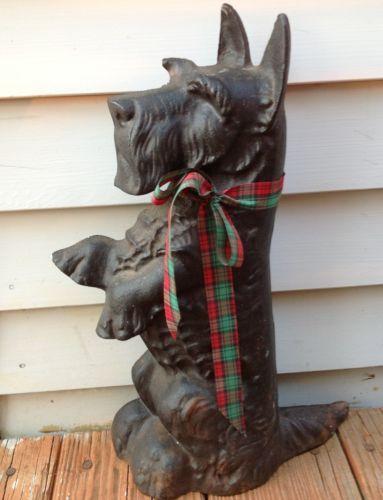 Adorable-Vintage-Large-15-5-Cast-Metal-Scottie-Scottish-Terrier-Dog-Doorstop