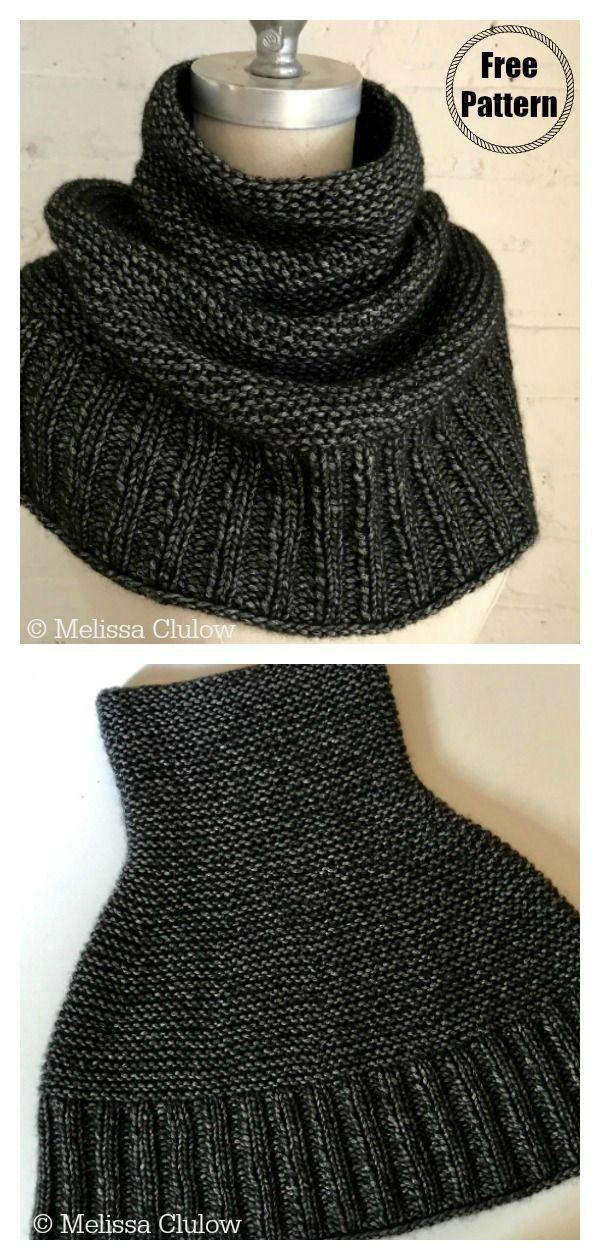 5 Simple Cowl Free Knitting Pattern #babyknittingpatterns