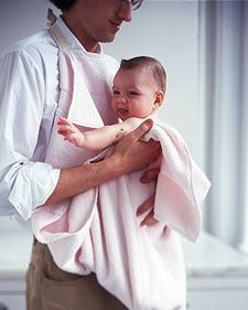 No matter how careful you are, baby's bath usually means a bath for you, too. This easy-to-make bath apron gives you a layer of protection -- and your baby a comfortable place to dry off.