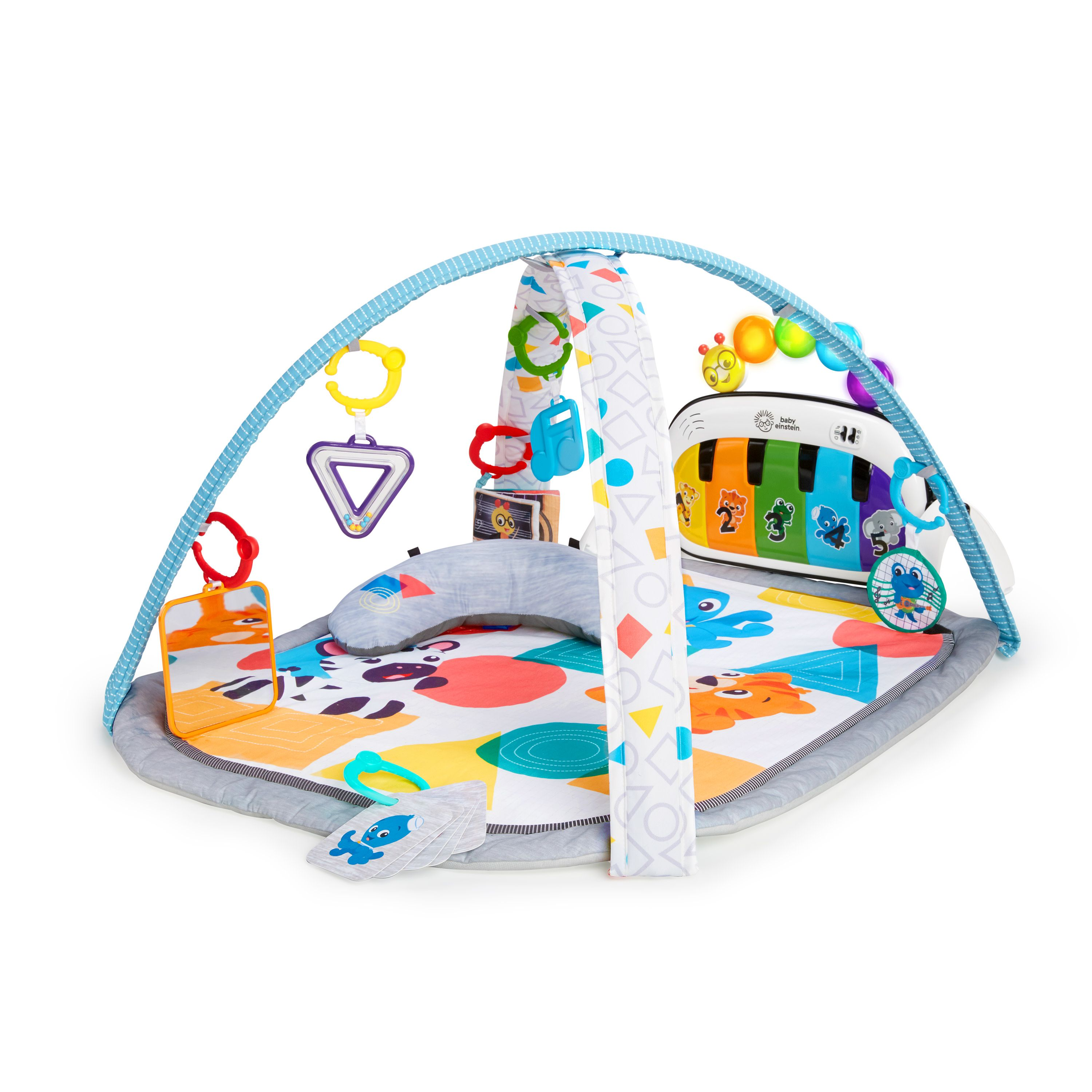 Baby Einstein 4 In 1 Kickin Tunes Music And Language Discovery Activity Gym And Play Mat Walmart Com In 2020 Baby Einstein Tune Music Baby Gym