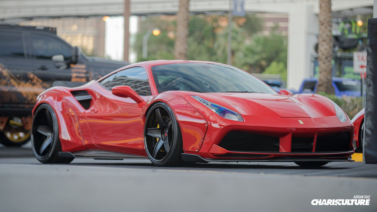 Eye Catching Red Ferrari 488 With Carbon Fiber Taillight Guards Ferrari 488 Ferrari Carbon Fiber