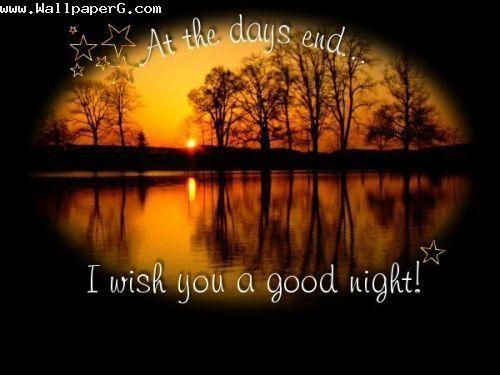 Good night wishing