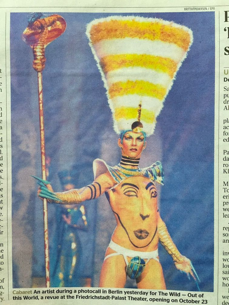 """Not sure if this is """"apotropaic"""" but it's fun! From The Times (of London) Sat 11 Oct 2014"""