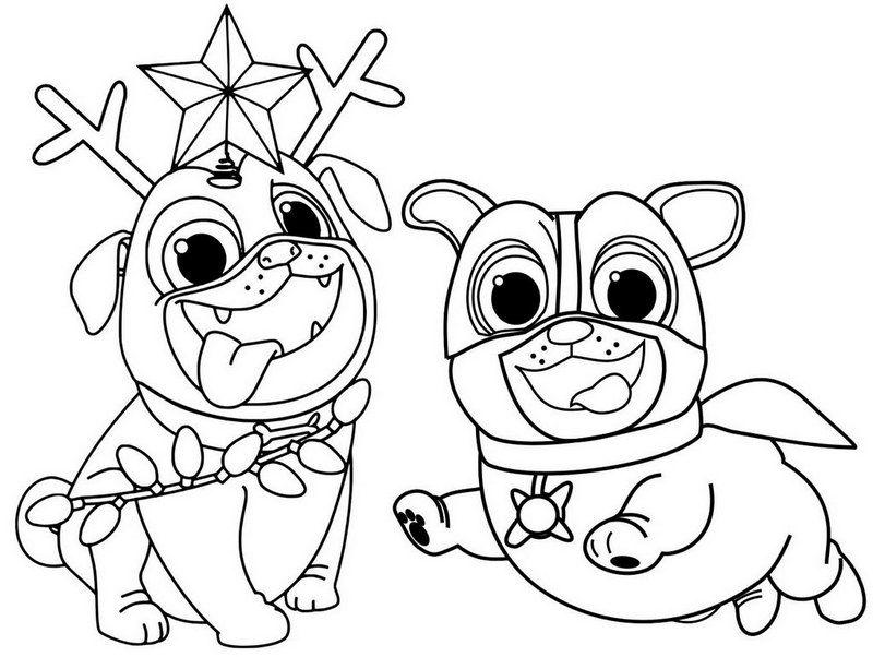 Cute Puppy Dog Pals Coloring Page Silhouette Diane Pinterest