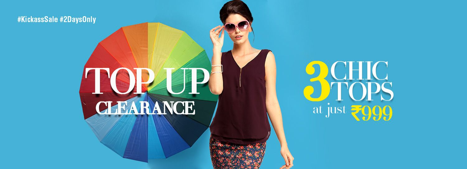 Kickass Sale Top Up Clearance 3 Chic Tops At Just 999 Only Shop