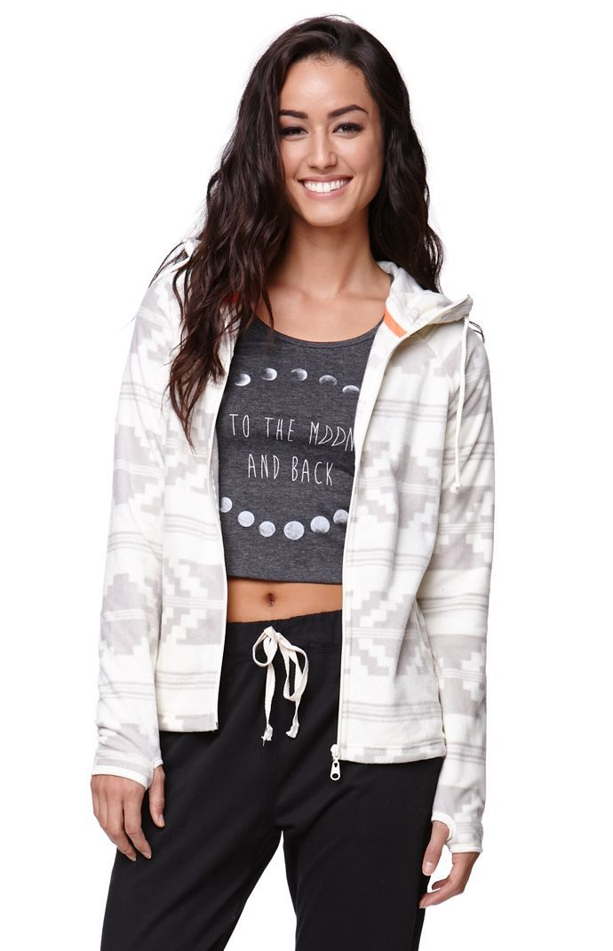 """A PacSun.com Online Exclusive! The women's Polar Zip Jacket by Billabong for PacSun and PacSun.com has super soft fleece fabric and a zipper front. The jacket is super cozy with long sleeves and a hooded back. Wear it over our graphic tees and tanks!24"""" length24"""" sleeve lengthMeasured from a size smallModel is 5'9"""" and wearing a small100% polyesterMachine washableImported"""