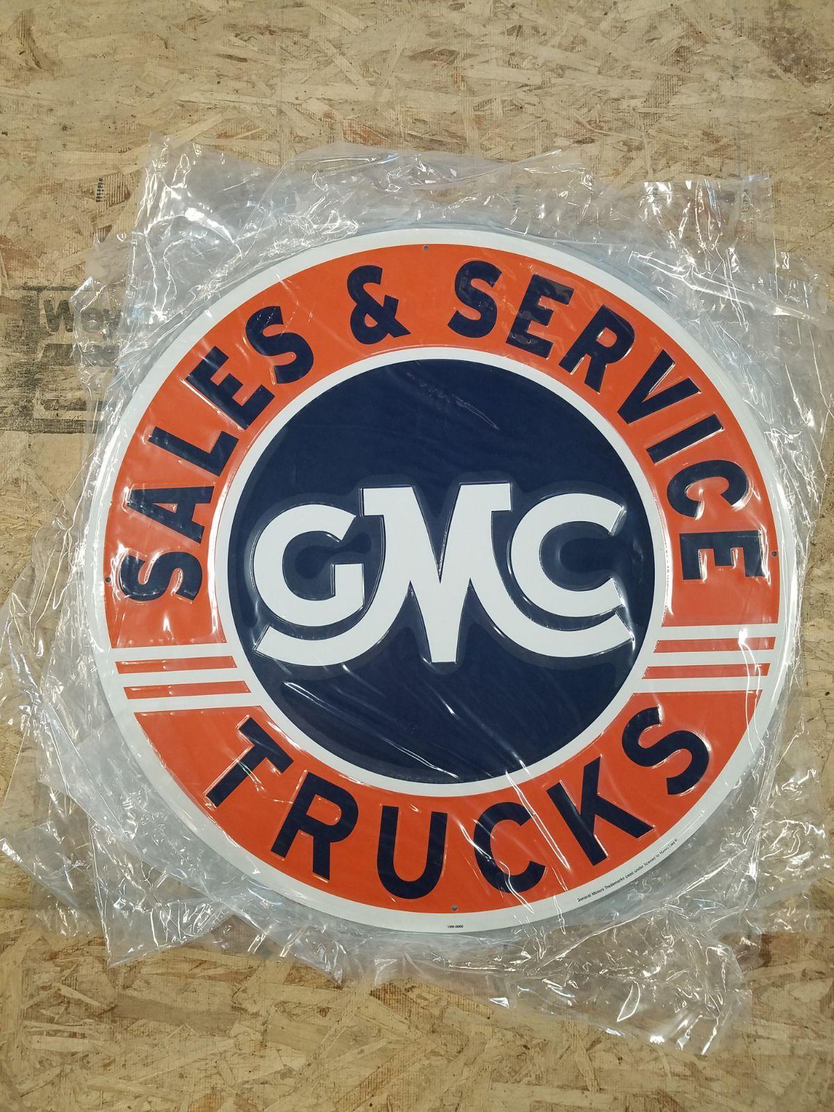 Huge Gmc Trucks Logo Embossed Metal Sign In 2020 Gmc Trucks