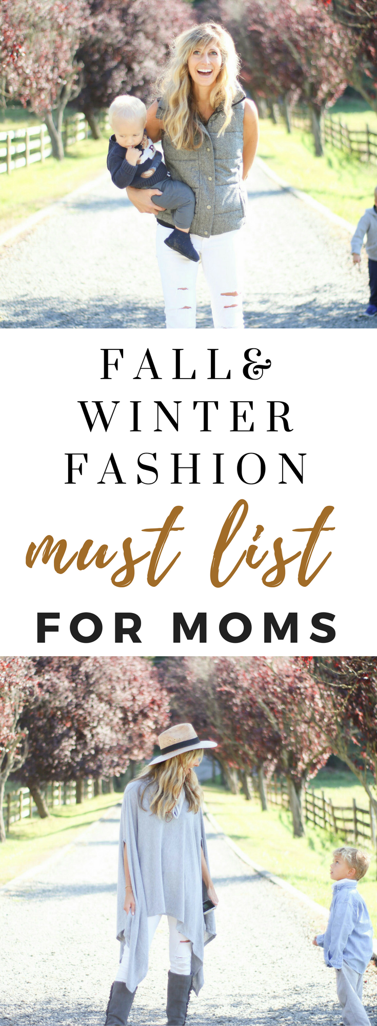 Fall and Winter Fashion List For Moms