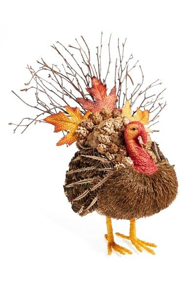 I like him! Shea's Wildflower Medium Decorative Turkey available at #Nordstrom