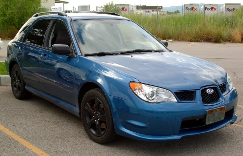 2007 Subaru Impreza 25i Wagon With Black Wheels Lifted Trucks