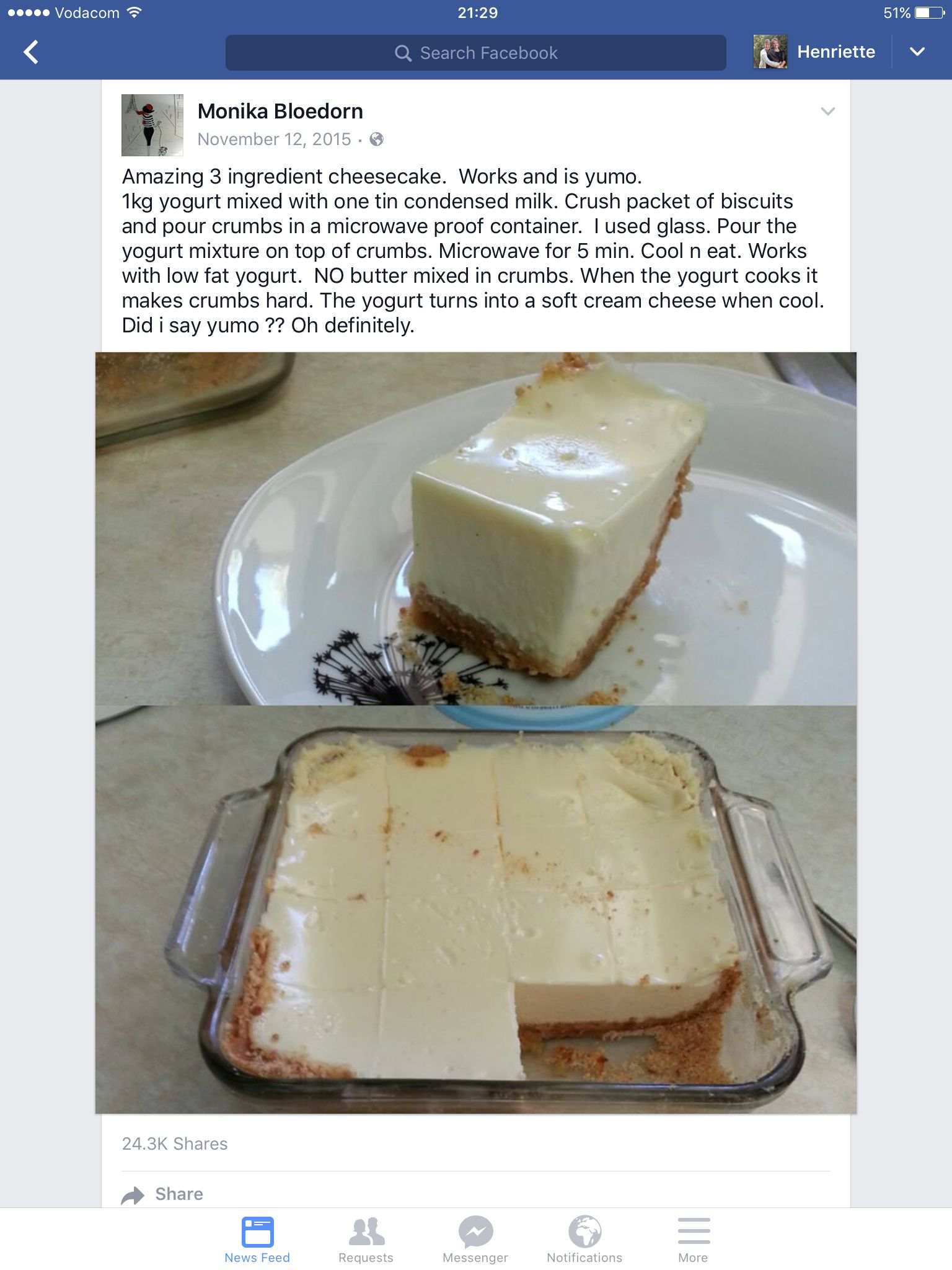 3 Ingredient Cheesecake 3 Ingredient Cheesecake Cake Recipes Dessert Recipes