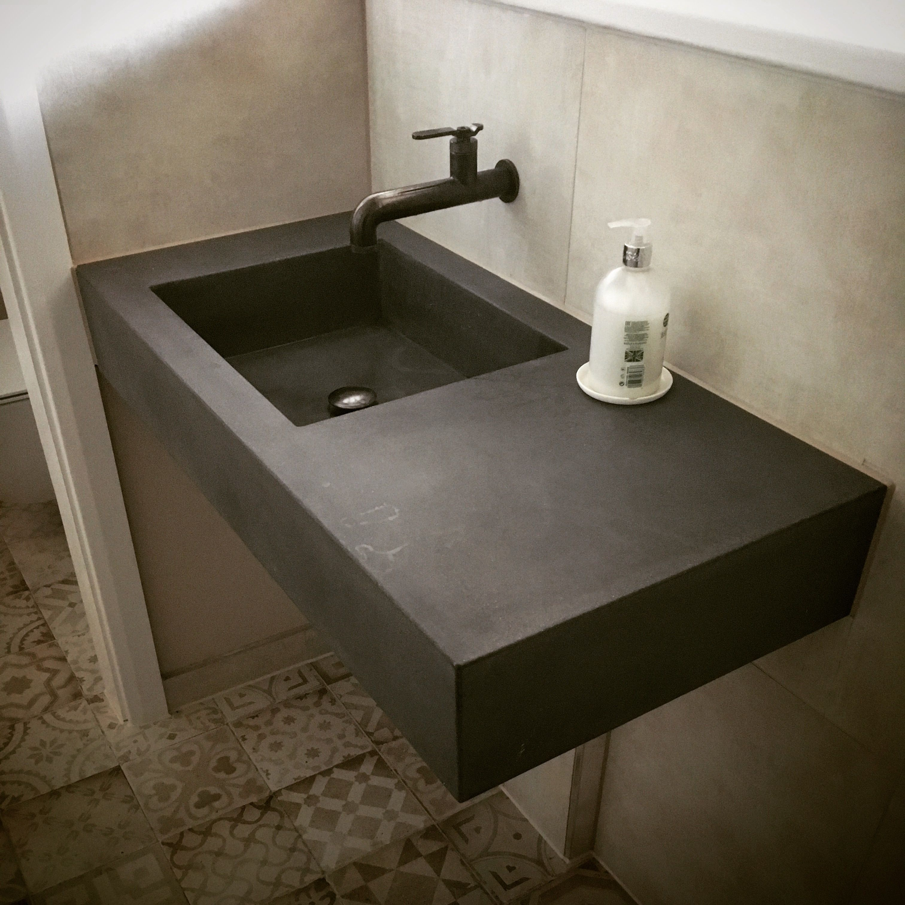 Polished Concrete Floating Vanity Sink Worktop Concrete Sink Floating Bathroom Sink Sink [ 3024 x 3024 Pixel ]