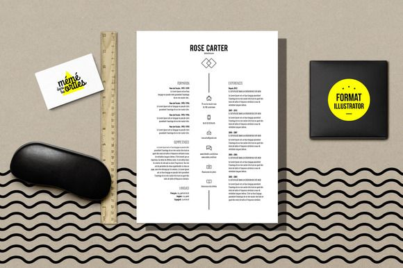 Carter  Resume Template Illustrator By Mmdanslesorties On