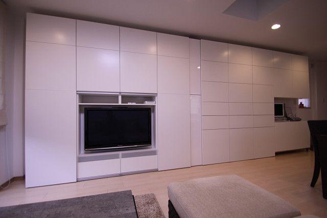 album 4 banc tv besta ikea r alisations clients s rie 1 pinterest. Black Bedroom Furniture Sets. Home Design Ideas