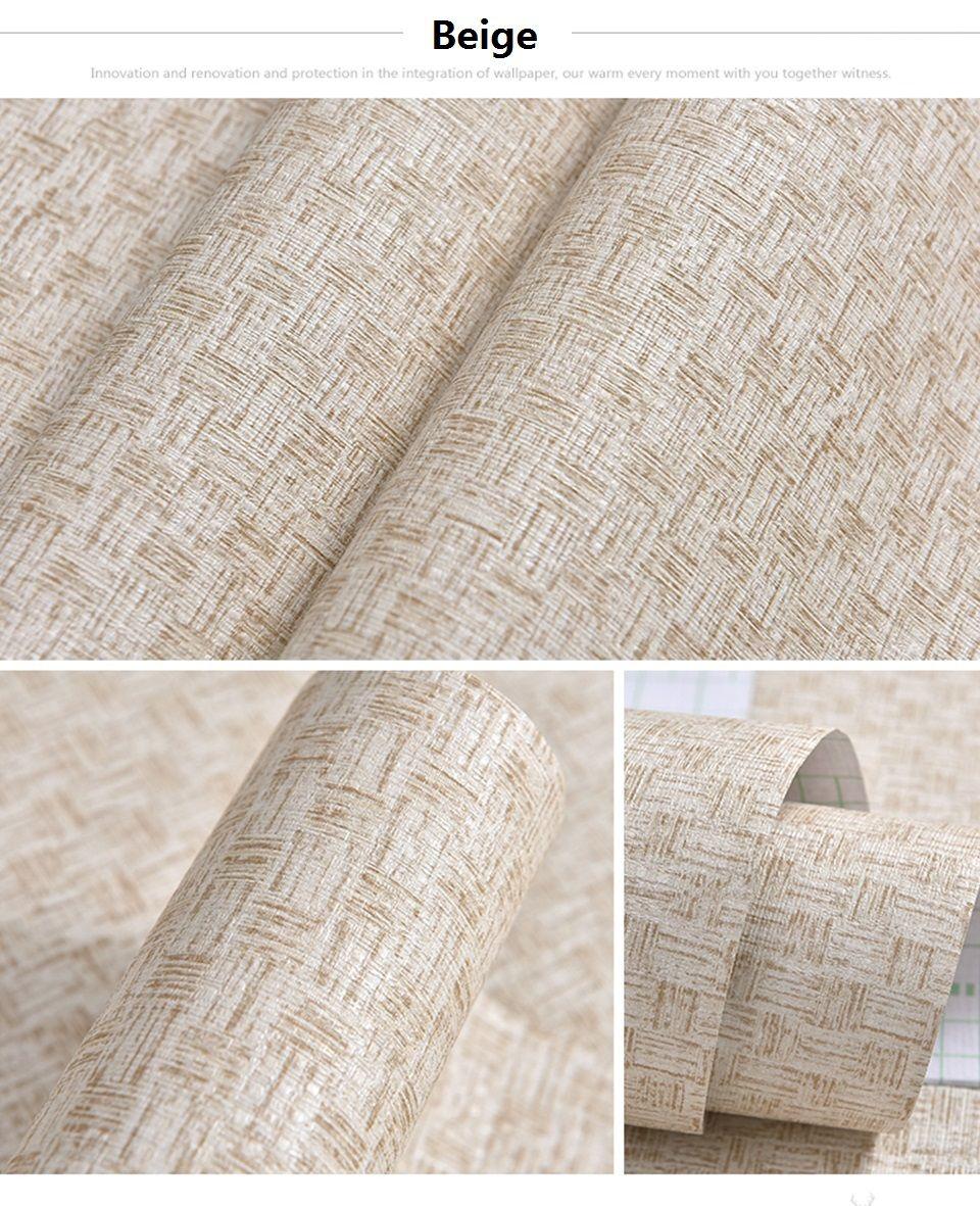 Vintage Flax Waterproof Washable Vinyl Peel And Stick Wallpaper For Living Room Bedroom Peel And Stick Wallpaper Self Adhesive Wallpaper Wallpaper Living Room