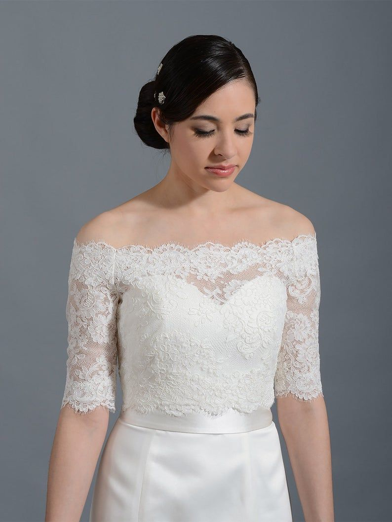 Braut Bolero, Off-Shoulder, Spitze Bolero, Hochzeit Bolero