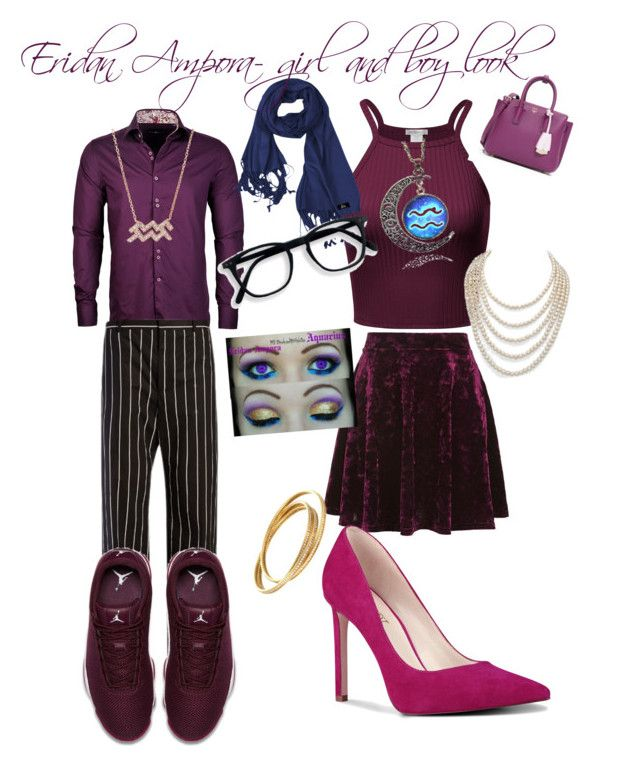 """eridan ampora"" by eloise-ampora on Polyvore featuring Stone Rose, Balenciaga, Topshop, Nine West, NIKE, MCM and DaVonna"